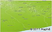 Physical Panoramic Map of Loberia
