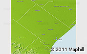 Physical 3D Map of Mar Chiquita