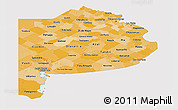 Political Shades Panoramic Map of Buenos Aires, cropped outside