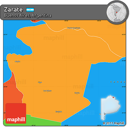 Free Political Simple Map Of Zarate - Zarate argentina map