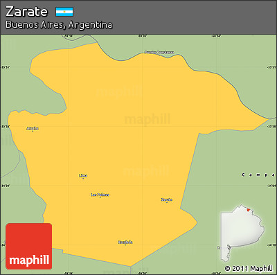 Free Savanna Style Simple Map Of Zarate - Zarate argentina map