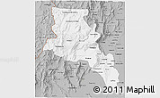 Gray 3D Map of Catamarca