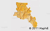 Political Shades 3D Map of Catamarca, cropped outside
