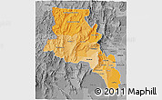 Political Shades 3D Map of Catamarca, desaturated
