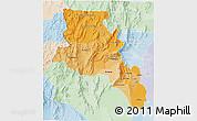 Political Shades 3D Map of Catamarca, lighten