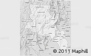 Silver Style 3D Map of Catamarca