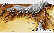Physical Panoramic Map of Andalgala