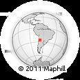 Outline Map of Antofagasta De La Sierra