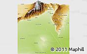 Physical Panoramic Map of Capayan