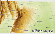 Physical 3D Map of El Alto