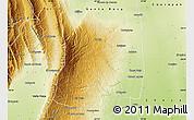 Physical Map of El Alto