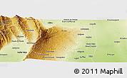 Physical Panoramic Map of El Alto