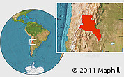 Satellite Location Map of Catamarca