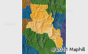 Political Shades Map of Catamarca, darken
