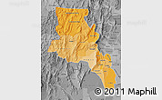 Political Shades Map of Catamarca, desaturated