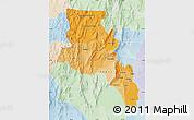 Political Shades Map of Catamarca, lighten