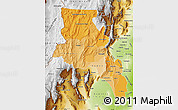 Political Shades Map of Catamarca, physical outside