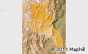 Political Shades Map of Catamarca, satellite outside