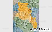 Political Shades Map of Catamarca, semi-desaturated