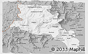 Gray Panoramic Map of Catamarca