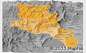 Political Shades Panoramic Map of Catamarca, desaturated