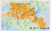 Political Shades Panoramic Map of Catamarca, lighten
