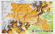 Political Shades Panoramic Map of Catamarca, physical outside