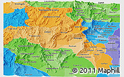 Political Shades Panoramic Map of Catamarca