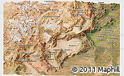 Satellite Panoramic Map of Catamarca