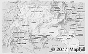 Silver Style Panoramic Map of Catamarca