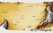 Physical Panoramic Map of Poman