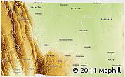 Physical 3D Map of Santa Rosa