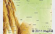 Physical Map of Santa Rosa