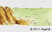 Physical Panoramic Map of Santa Rosa