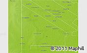 Physical 3D Map of 12 de Octubre