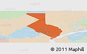 Political Panoramic Map of 1ro. de Mayo, lighten