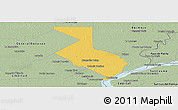 Savanna Style Panoramic Map of 1ro. de Mayo