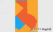 Political Simple Map of 1ro. de Mayo