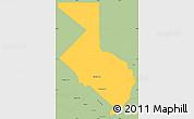 Savanna Style Simple Map of 1ro. de Mayo