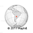 Outline Map of 25 De Mayo