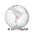 Outline Map of Almirante Brown