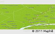 Physical Panoramic Map of Bermejo