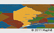 Political Panoramic Map of Bermejo, darken