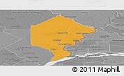 Political Panoramic Map of Bermejo, desaturated
