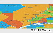 Political Panoramic Map of Bermejo