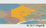 Political Panoramic Map of Bermejo, semi-desaturated