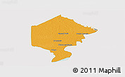 Political Panoramic Map of Bermejo, single color outside