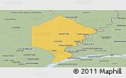 Savanna Style Panoramic Map of Bermejo