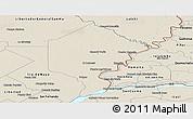 Shaded Relief Panoramic Map of Bermejo