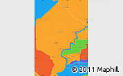 Political Simple Map of Bermejo
